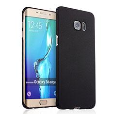 Coque Plastique Rigide Sables Mouvants R03 pour Samsung Galaxy S6 Edge+ Plus SM-G928F Noir