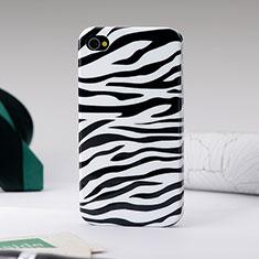 Coque Plastique Rigide Zebre pour Apple iPhone 4 Noir