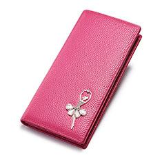Coque Pochette Cuir Portefeuille Danseuse Universel pour Xiaomi Redmi Note 6 Pro Rose Rouge