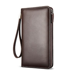 Coque Pochette Cuir Universel H19 pour Huawei Honor Magic 2 Marron