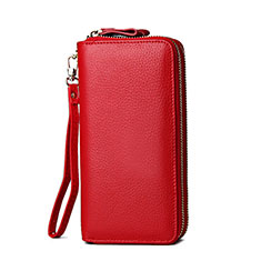 Coque Pochette Cuir Universel H21 pour Huawei Honor Magic 2 Rouge