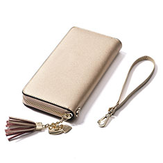Coque Pochette Cuir Universel H24 pour Huawei Honor Magic 2 Or