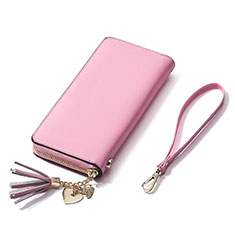 Coque Pochette Cuir Universel H24 pour Huawei Honor Magic 2 Rose