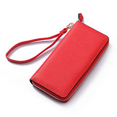 Coque Pochette Cuir Universel H26 pour Huawei Honor Magic 2 Rouge