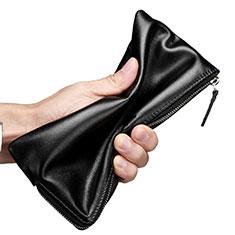 Coque Pochette Cuir Universel H29 pour Sony Xperia 1 Noir