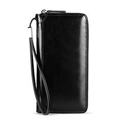 Coque Pochette Cuir Universel H32 pour Sony Xperia 1 Noir