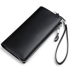 Coque Pochette Cuir Universel H34 pour Sony Xperia 1 Noir