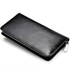 Coque Pochette Cuir Universel H39 pour Sony Xperia 1 Noir