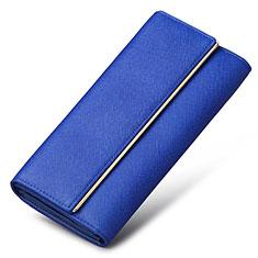 Coque Pochette Cuir Universel K01 pour Orange Rise 30 Bleu
