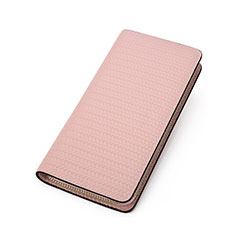Coque Pochette Cuir Universel K10 pour Huawei Mate 40 Rose