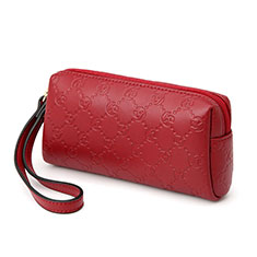 Coque Pochette Cuir Universel K11 pour Wiko Birdy Rouge