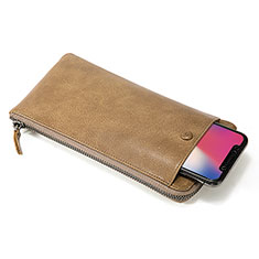 Coque Pochette Cuir Universel K17 pour Huawei Honor Holly Orange