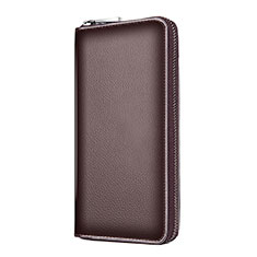 Coque Pochette Cuir Universel K18 pour Apple iPhone 12 Pro Marron