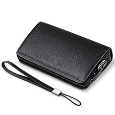 Coque Pochette Cuir Universel K19 pour Huawei Honor Holly 3 Noir