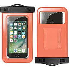 Coque Pochette Etanche Waterproof Universel W02 pour Google Pixel 3 Orange