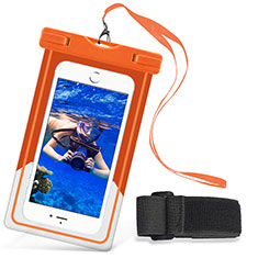 Coque Pochette Etanche Waterproof Universel W03 pour Huawei P Smart 2019 Orange