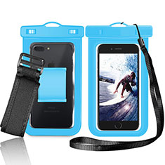 Coque Pochette Etanche Waterproof Universel W05 pour Xiaomi Mi 10 Ultra Bleu