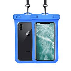 Coque Pochette Etanche Waterproof Universel W07 pour Apple iPhone 11 Pro Bleu