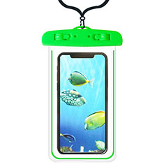 Coque Pochette Etanche Waterproof Universel W08 pour Xiaomi Mi 10 Ultra Vert
