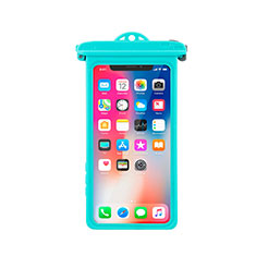 Coque Pochette Etanche Waterproof Universel W14 pour Orange Dive 72 Cyan