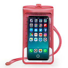 Coque Pochette Etanche Waterproof Universel W15 pour Orange Dive 72 Rouge