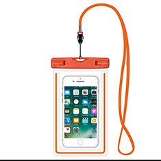 Coque Pochette Etanche Waterproof Universel W16 pour Wiko Rainbow 4g Orange