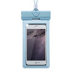 Coque Pochette Etanche Waterproof Universel W17 pour Xiaomi Mi 10 Ultra Bleu
