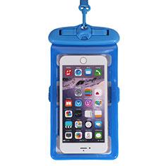 Coque Pochette Etanche Waterproof Universel W18 pour Nokia 7.1 Plus Bleu