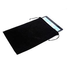 Coque Pochette Velour pour Samsung Galaxy Tab A 8.0 SM-T350 T351 Noir