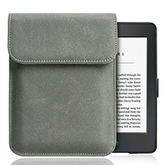 Coque Pochette Velour S01 pour Amazon Kindle Paperwhite 6 inch Gris