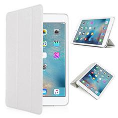 Coque Portefeuille Cuir Mat pour Apple iPad Pro 9.7 Blanc