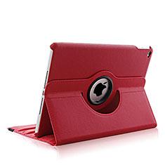 Coque Portefeuille Cuir Rotatif pour Apple iPad Air 2 Rouge