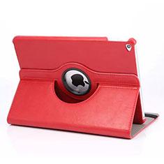 Coque Portefeuille Cuir Rotatif pour Apple iPad Mini 4 Rouge