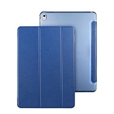 Coque Portefeuille Flip Cuir pour Apple iPad Pro 9.7 Bleu