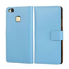 Coque Portefeuille Flip Cuir pour Huawei G9 Lite Bleu Ciel