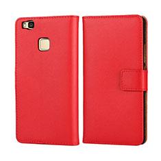 Coque Portefeuille Flip Cuir pour Huawei G9 Lite Rouge