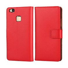 Coque Portefeuille Flip Cuir pour Huawei P9 Lite Rouge