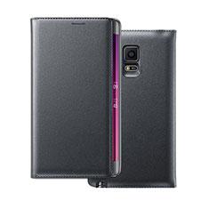 Coque Portefeuille Flip Cuir pour Samsung Galaxy Note Edge SM-N915F Noir