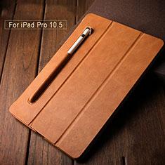 Coque Portefeuille Livre avec Pencil Holder Apple iPad Pro 10.5 Marron
