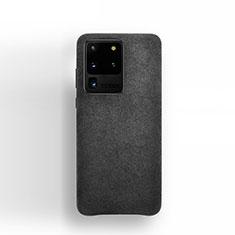 Coque Portefeuille Livre Cuir Etui Clapet C01 pour Samsung Galaxy S20 Ultra 5G Noir