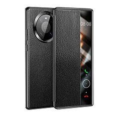 Coque Portefeuille Livre Cuir Etui Clapet F01 pour Huawei Mate 40 Noir