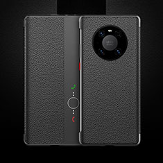 Coque Portefeuille Livre Cuir Etui Clapet F01 pour Huawei Mate 40 Pro Noir