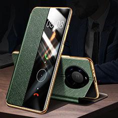 Coque Portefeuille Livre Cuir Etui Clapet F02 pour Huawei Mate 40 Pro+ Plus Vert
