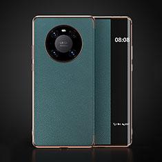 Coque Portefeuille Livre Cuir Etui Clapet F03 pour Huawei Mate 40 Cyan
