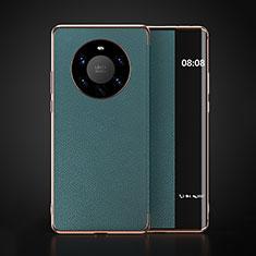 Coque Portefeuille Livre Cuir Etui Clapet F03 pour Huawei Mate 40 Pro+ Plus Cyan