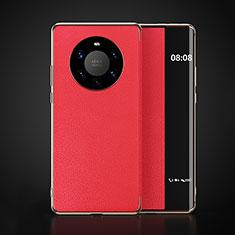 Coque Portefeuille Livre Cuir Etui Clapet F03 pour Huawei Mate 40 Pro+ Plus Rouge