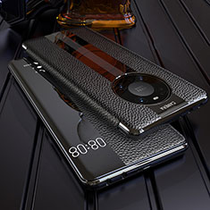Coque Portefeuille Livre Cuir Etui Clapet F05 pour Huawei Mate 40 Pro Noir