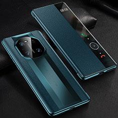 Coque Portefeuille Livre Cuir Etui Clapet K01 pour Huawei Mate 40 Pro Bleu