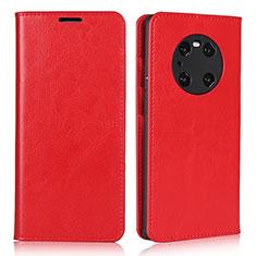 Coque Portefeuille Livre Cuir Etui Clapet K02 pour Huawei Mate 40 Pro Rouge