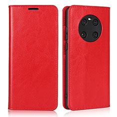 Coque Portefeuille Livre Cuir Etui Clapet K02 pour Huawei Mate 40 Rouge
